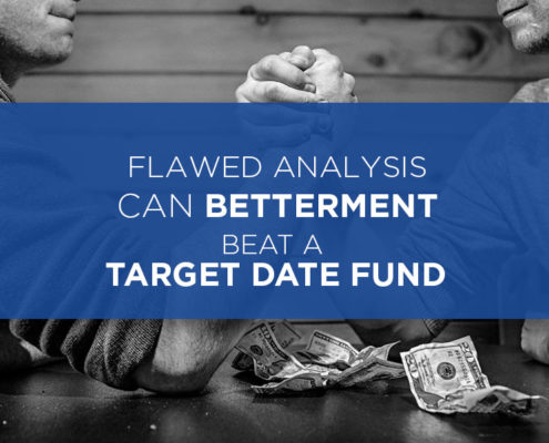 can betterment beat target date fund