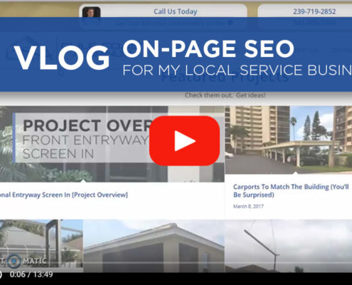 VLOG: On Page SEO For My Local Service Business - coreyphilip.com