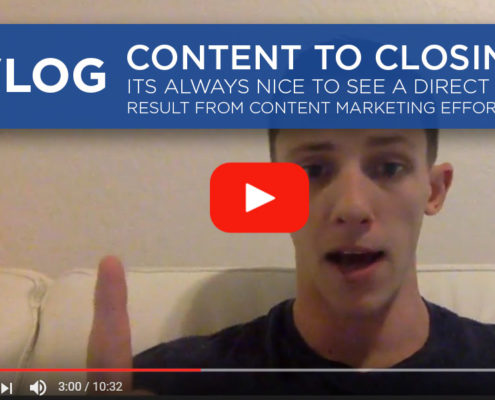VLOG - Content To Closing