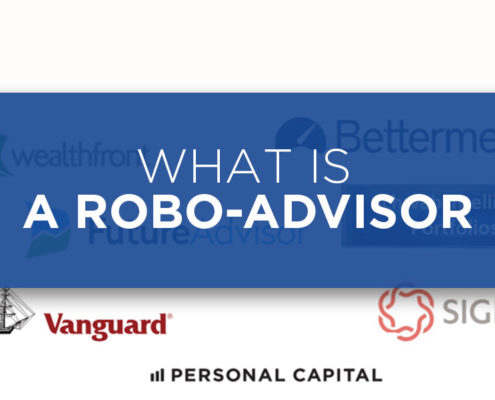 If you've found this site you've probably already heard of a robo-advisor and are looking to get started investing. Robo-advisors have changed the investment landscape. In just the few years since their initial launch they've brought smart, low cost, highly transparent investing to everyone. No more fee gouging, or shady financial advice. savings-on-fees-saved-by-robo-advisor-asset-allocation-portfolio The difference between a 1% annual fee, and 0.25% annual fee results in a total savings of over $100,000 over 30 years on a $100,000 investment, assuming a 6% return. So what is a robo-advisor? A robo-advisor is a web based financial service which invests you in a low cost portfolio based on your investment time frame and risk tolerance. Robo-advisors keep their business online which keeps costs low, makes your account easily accessible, and investing super simple. A key here is low costs. Traditional financial advisors often charge fees in excess of 1% and then further invest you in high cost mutual funds that charge another 1% of so in fees – often giving a kickback to financial advisors or their firm. While a percent here and there might not sound like such a big deal, it adds up to a lot over the course of an investment. This chart below by Wealthfront, an excellent robo-advisor, shows how lowering fees from 1% to .25%, a .75% savings, can add up to over $100,000 in 30 years. Many traditional advisors charge a lot more than 1%. Robo-advisors keep the fees low which ultimately brings higher total returns to you. Robo-advisors keep their fees low by investing you in a diverse portfolio of index funds. Their portfolios are created to keep you diversified and not exposed to a single market. Their algorithms allocate you according to your risk tolerance and investment timeframe. Shorter time frames and lower risk tolerances will have you allocated more into bonds, as they are a less volatile asset. Longer duration investors with a higher appetite for risk will be allocated more into stocks that generally have higher returns in the long run, although short term volatility is higher. Either way robo-advisors keep you fully diversified across the globe. The stock and bond holdings used by top robo-advisors such as Betterment or Wealthfront are comprised of low cost index funds often issued by reputable low cost brokerages such as Vanguard or Ishares. This ensures that the index of each asset class is tracked in the lowest cost manner possible. Many Robo-advisors have no minimum With the low fees come no minimums. The top robo-advisors have no account minimum. This is awesome for people just getting started investing with limited funds. Many traditional financial advisors aren't interested in a few thousand dollars as they have no room to profit. Online brokerages, such as E-trade and Scottrade have an account minimum of $1,000 or so, but charge a trade fee every time you want to buy or sell a fund. The trade fee, while often only $7-10, sounds small but will quickly eat into your returns. With a Robo-advisor investments are 'hands off'. There is no need to stay up to date on the latest stock market news, attempt to trade stocks and lose sleep while wondering if you made the 'right' investment. Robo-advisors are for the 'set it and forget about it' investor. The longer you forget about your investment and let the laws of the time value of money work to your advantage, the higher your returns will likely be. To make it simple, robo-advisors can set an automatic deposit so funds are consistently deposited into your account without your need to take a look at it. As I said early on, robo-advisors bring transparency to financial services. Every action they take on your behalf is fully transparent, as is the reasoning behind it. There's no shadiness, or self-interested action from the robo-advisors. Only action that will benefit you. Robo-advisors offer a low cost investment, that has YOUR benefit at the core. They keep fees low, and make things simple, so you don't have to worry about investing. I recommend all my friends start investing with a robo-advisor.