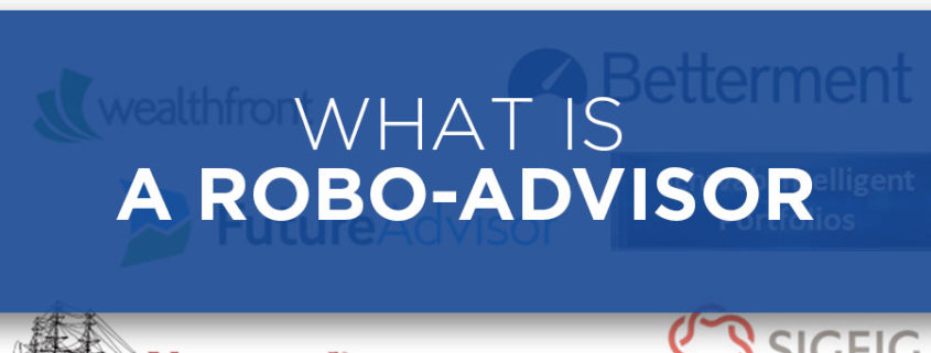 If you've found this site you've probably already heard of a robo-advisor and are looking to get started investing. Robo-advisors have changed the investment landscape. In just the few years since their initial launch they've brought smart, low cost, highly transparent investing to everyone. No more fee gouging, or shady financial advice. savings-on-fees-saved-by-robo-advisor-asset-allocation-portfolio The difference between a 1% annual fee, and 0.25% annual fee results in a total savings of over $100,000 over 30 years on a $100,000 investment, assuming a 6% return. So what is a robo-advisor? A robo-advisor is a web based financial service which invests you in a low cost portfolio based on your investment time frame and risk tolerance. Robo-advisors keep their business online which keeps costs low, makes your account easily accessible, and investing super simple. A key here is low costs. Traditional financial advisors often charge fees in excess of 1% and then further invest you in high cost mutual funds that charge another 1% of so in fees – often giving a kickback to financial advisors or their firm. While a percent here and there might not sound like such a big deal, it adds up to a lot over the course of an investment. This chart below by Wealthfront, an excellent robo-advisor, shows how lowering fees from 1% to .25%, a .75% savings, can add up to over $100,000 in 30 years. Many traditional advisors charge a lot more than 1%. Robo-advisors keep the fees low which ultimately brings higher total returns to you. Robo-advisors keep their fees low by investing you in a diverse portfolio of index funds. Their portfolios are created to keep you diversified and not exposed to a single market. Their algorithms allocate you according to your risk tolerance and investment timeframe. Shorter time frames and lower risk tolerances will have you allocated more into bonds, as they are a less volatile asset. Longer duration investors with a higher appetite for risk will be alloc