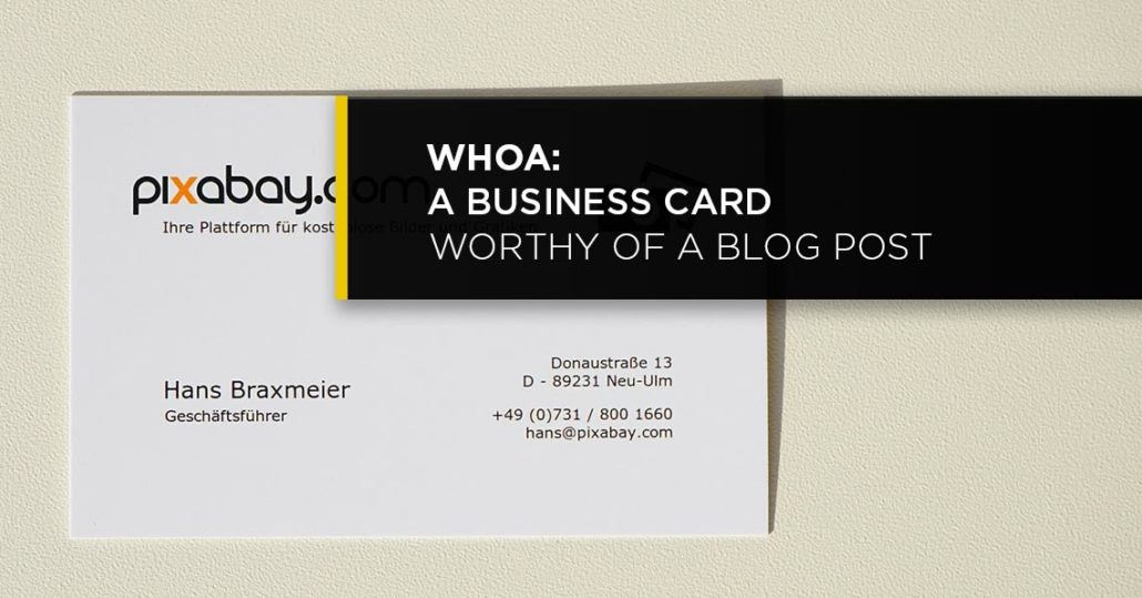 Whoa: A Business Card Worthy Of A Blog Post - CoreyPhilip.com